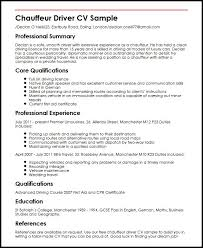 Driver Resume Samples Free by Chauffeur Driver Cv Sample Myperfectcv