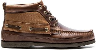 ugg noxon sale lyst sperry top sider a o boat chukka duck cloth in brown for