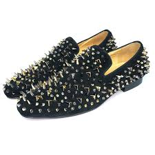 amazon com men u0027s leather loafer shoes spikes slippers flats with