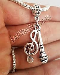 necklace pandora charm images Ewt love to sing microphone music note charm pendant jpg