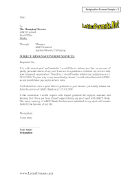 Resignations Letter Template Resignation Letter For Director