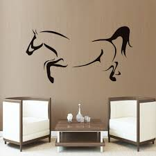 online get cheap horse gallop vinyl decal aliexpress com 1pcs medium size pvc material line drawing animal outline home decor wall sticker living room galloping
