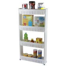 narrow storage cabinet for kitchen basicwise slim storage cabinet organizer 4 shelf rolling pull out cart rack tower with wheels