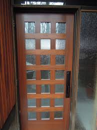 wood glass front door architecture entry door with sidelights with black handle matched