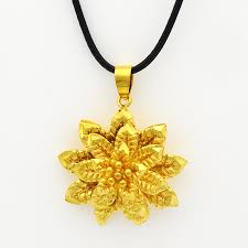 2016 gold mandala indian flower pendant necklace fashion
