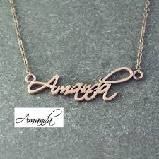 name plated necklace personalized name necklace signature necklace gold color