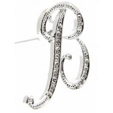 Monogramed Letters Monogram Letters F Silver Corsage Creations