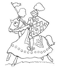 Coloriage Chevalier gratuit à imprimer