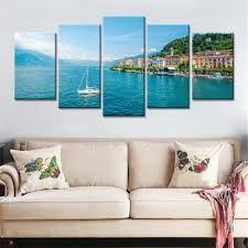 5 panels drop shipping home decor wall art pictures seaside