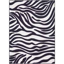 Zebra Area Rugs Animal Print Machine Washable Area Rugs Rugs The Home Depot
