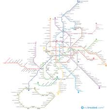 Madrid Metro Map by