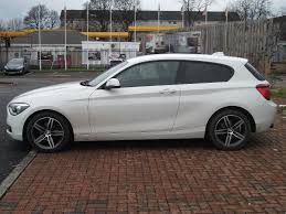 white bmw 1 series sport bmw 1 series 116i sport 3 door alpine white automatic 2013