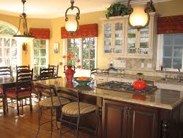 kitchen with cornice window treatments decor crave