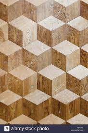 palace wooden parquet flooring design with volume cubes