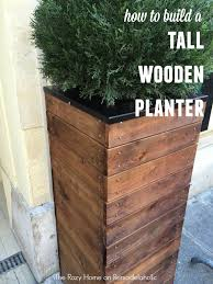 How To Make Planter Boxes by Vive La France Build A Tall Wooden Planter Wooden Planters