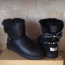 womens ugg boots size 8 ugg australia mini bailey braid swarovski black bling