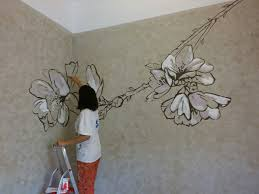almond flower wall painting anabeltra