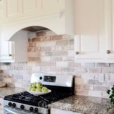 Veneer Kitchen Backsplash Outstanding Brick Veneer Kitchen Backsplash 12 On Best Design