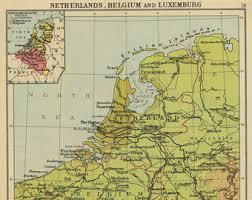 belgium in the map vintage belgium map etsy