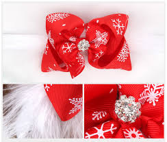 twdvs kids christmas headband feather bow snow flower hair band