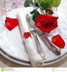 Romantic Table Settings Romantic Red Rose Table Setting Stock Images Image 23814654