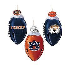 auburn tigers footbells ornament collection ncaa