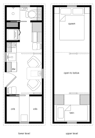 Small Cottages Floor Plans 8x24 Family One Crib W Murphy And Storage Loft Tiny House Small