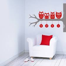 interior snowflake wall decals owl tree stickers decorative stickers owl wall decals sticker art