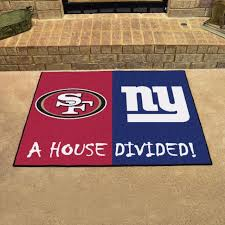 Area Rug Mat 49ers Giants House Divided Mat Area Rug Cave Sports Room