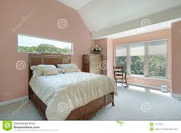 Peach Color Bedroom by Master Bedroom With Peach Colored Walls Royalty Free Stock Photos