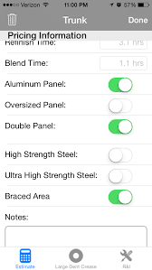 Paintless Dent Repair Estimate Sheet by Ding Stinger Hail Estimating App Continues To Evolve Update