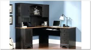 black l shaped desk with hutch corner desk with hutch corner desk with hutch also rustic l shaped
