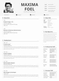 the most incredible single page resume template resume format web