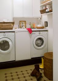 Front Load Washer With Pedestal Washer Dryer Pedestal Laundry Room Contemporary With Built In