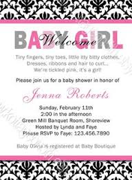welcome home baby shower welcome new baby girl shower invitation with pink floral design in