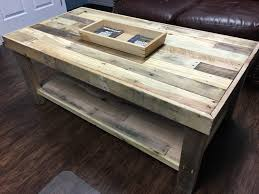 pallet wood coffee table with lower shelf