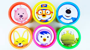сups stacking surprise toys pororo clubhouse learn numbers colors