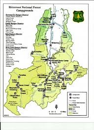 bitterroot mountains map bitterroot national forest cgrounds in montana