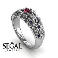 art deco engagement ring 14k white gold 0 25 carat round cut