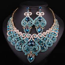 bridal jewelry luxury jewelry necklace earring for brides