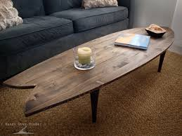 Unique Wooden Coffee Table Coffee Table Amusing Surfboard Coffee Table Design Ideas