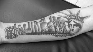 tattoo pictures of new york 60 new york skyline tattoo designs for men big apple ink ideas