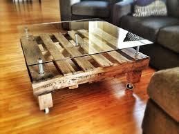 how to make a glass table 15 beautiful pallet coffee table with wheels pallet coffee tables