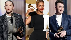 grammy winners list for 2015 includes sam smith pharrell grammys 2015 winners complete list sam smith eminem beyonce and