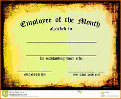 employee of the month certificate template 6 best agenda templates