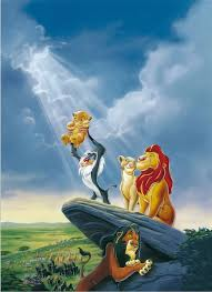 king of backdrops 5x7ft clouds sky lion king simba nala rocks grasslands custom
