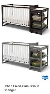 delta convertible crib toddler rail designed with clean lines and a contemporary two tone finish the