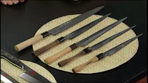 sharpening for kitchen knives iron chef morimoto s knives top is a new knife bottom is after 3