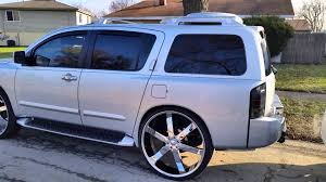 nissan armada 2017 blue money mikes armada on 30s and sts4 on 6s youtube