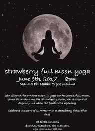 full strawberry moon strawberry full moon yoga mantra fit